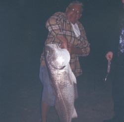 50 inch Red Drum caught by Tony in Cape Hatteras North Carolina on Akios Reel